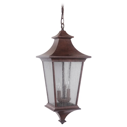 Craftmade Lighting Seeded Glass Outdoor Hanging Light Bronze Craftmade Lighting Z1371-98
