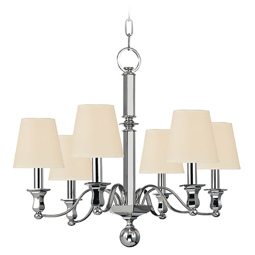 Hudson Valley Lighting Hudson Valley Lighting Charlotte Polished Nickel Chandelier 1416-PN
