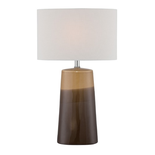 Lite Source Lighting Lite Source Baker Gradient Coffee Ceramic Table Lamp with Oval Shade LS-22757