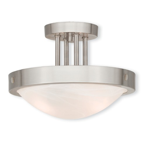 Livex Lighting Livex Lighting New Brighton Brushed Nickel Semi-Flushmount Light 73955-91