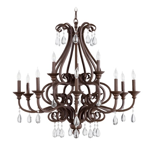 Quorum Lighting Quorum Lighting Anders Oiled Bronze Chandelier 6013-12-86