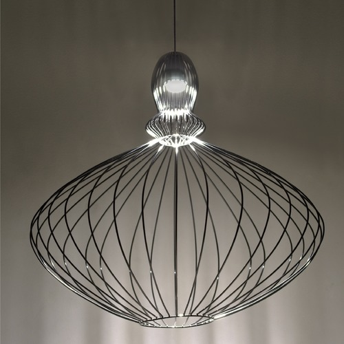 Besa Lighting Besa Lighting Pilot Black LED Pendant Light with Urn Shade 1XP-PILOT-LED-BK