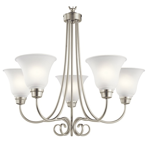 Kichler Lighting Kichler Lighting Bixler Brushed Nickel Chandelier 43938NI