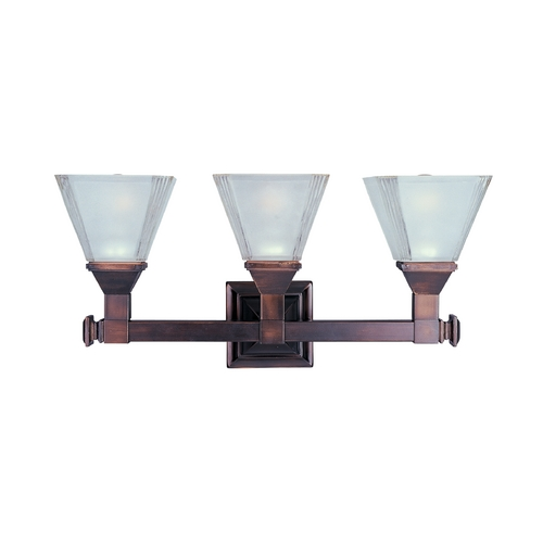 Maxim Lighting Bathroom Light with White Glass in Oil Rubbed Bronze Finish 11078FTOI