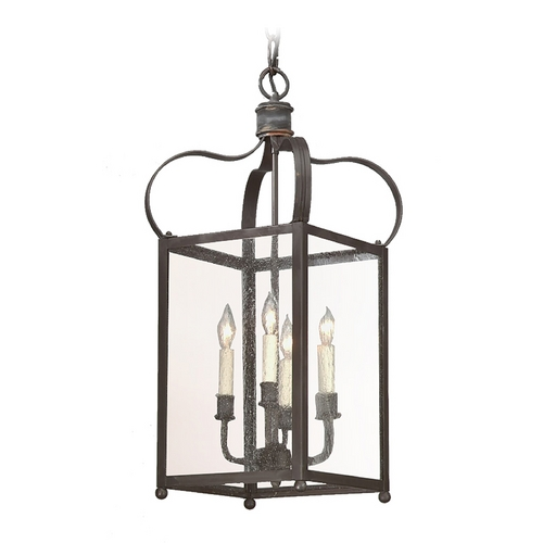 Troy Lighting Pendant Light with Clear Glass in Natural Rust Finish F8921NR