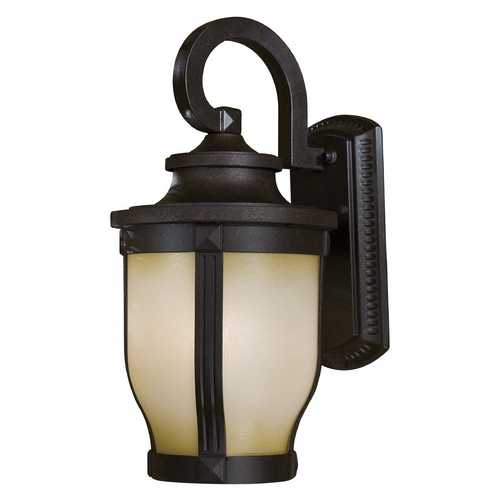 Minka Lavery Outdoor Wall Light with White Glass in Corona Bronze Finish 8762-166-PL