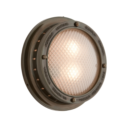 Troy Lighting Outdoor Wall Light with Clear Glass in Centennial Rust Finish B3263