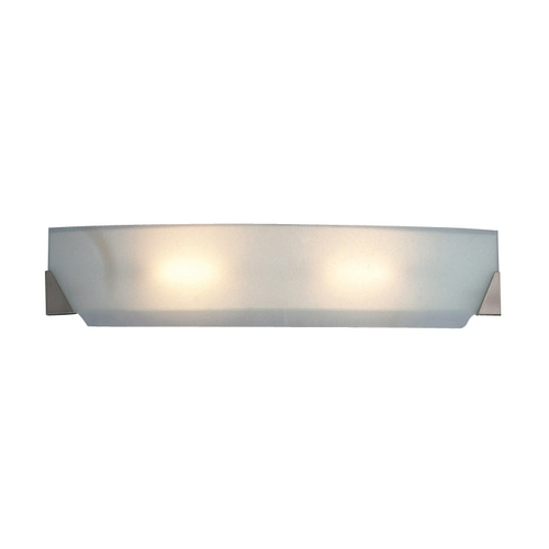 PLC Lighting Modern Bathroom Light with White Glass in Polished Chrome Finish 3333 PC
