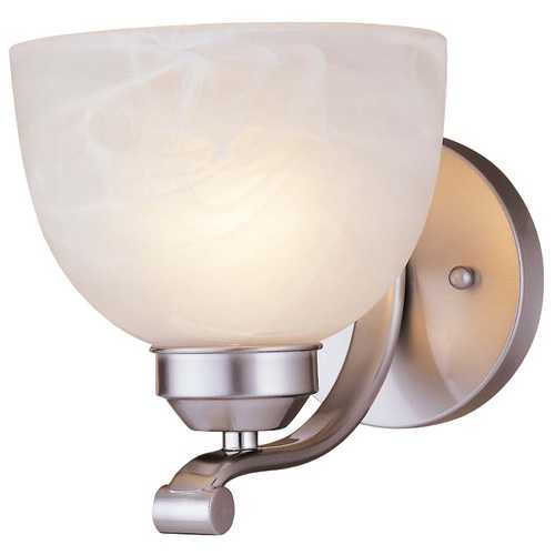 Brushed Nickel Energy Star Qualified Singlelight Sconce 542184Pl Es