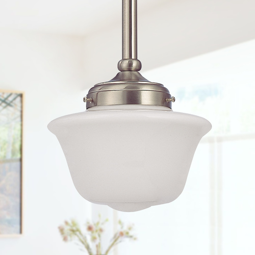 Design Classics Lighting 8-Inch Schoolhouse Mini-Pendant Light FA4-09 / GD8