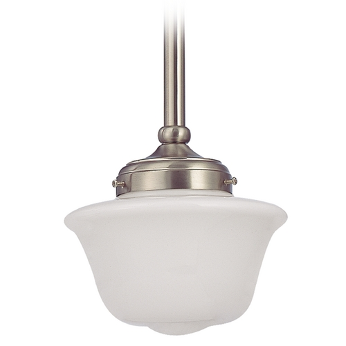 Design Classics Lighting 8-Inch Period Lighting Schoolhouse Mini-Pendant Light FA4-09 / GD8