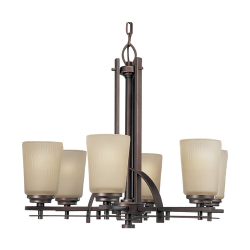 Progress Lighting Progress Chandelier with Beige / Cream Glass in Heirloom Finish P4213-88