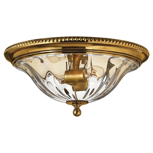 Hinkley Lighting 16-1/4-Inch Brass Flushmount Ceiling Light 3616BB
