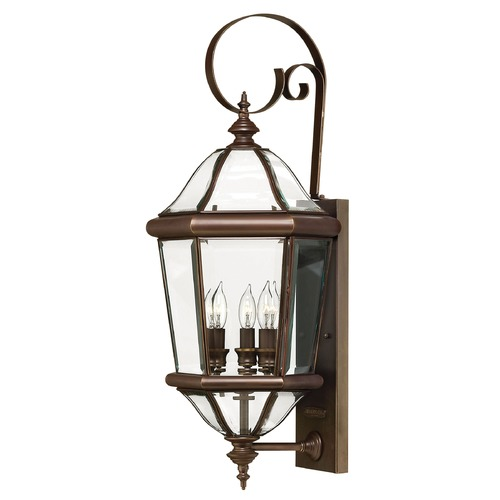 Hinkley Lighting Outdoor Wall Light with Clear Glass in Copper Bronze Finish 2454CB