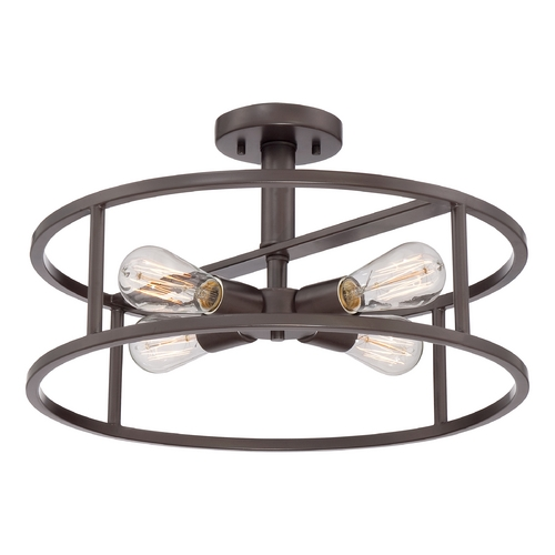Quoizel Lighting Quoizel New Harbor Western Bronze Semi-Flushmount Light NHR1718WT