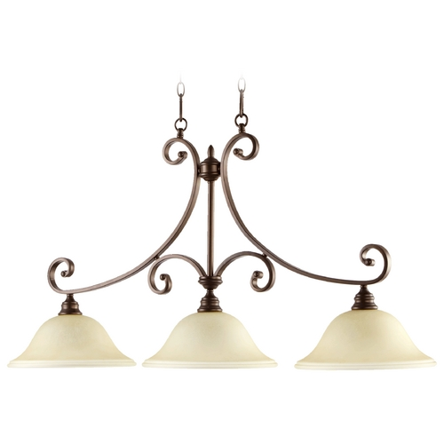 Quorum Lighting Quorum Lighting Bryant Oiled Bronze Island Light 6654-3-86