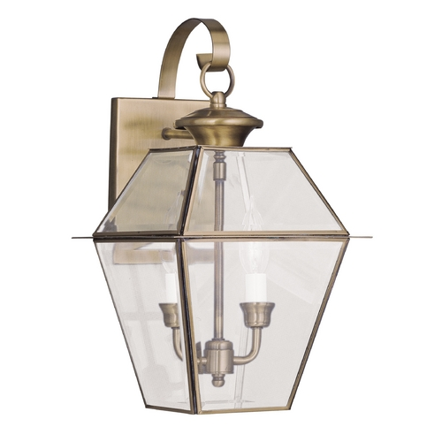 Livex Lighting Livex Lighting Westover Antique Brass Outdoor Wall Light 2281-01