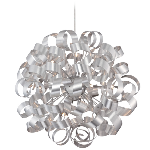 Quoizel Lighting Mid-Century Modern Pendant Cluster Light Millenia Ribbons by Quoizel Lighting RBN2831MN
