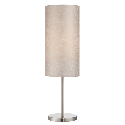 Lite Source Lighting Lite Source Secia Polished Steel Table Lamp with Cylindrical Shade LS-22334