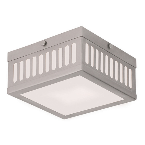 Livex Lighting Livex Lighting Prentice Brushed Nickel Flushmount Light 73162-91