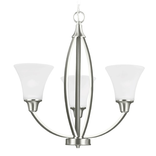 Sea Gull Lighting Sea Gull Lighting Metcalf Brushed Nickel Chandelier 3113203-962