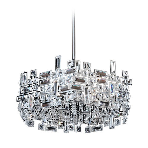 Allegri Lighting Vermeer 24in Hexagonal Pendant with Chrome 11197-010-FR001