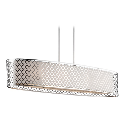 Sea Gull Lighting Sea Gull Lighting Jourdanton Brushed Nickel Island Light with Oval Shade 6615504-962