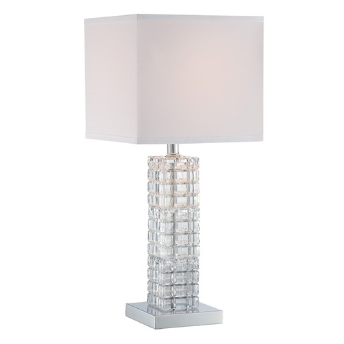 Lite Source Lighting Lite Source Modesto Chrome Table Lamp with Square Shade LS-22749