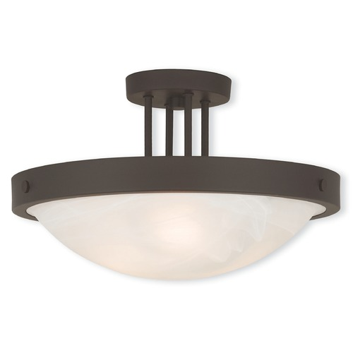 Livex Lighting Livex Lighting New Brighton Bronze Semi-Flushmount Light 73956-07