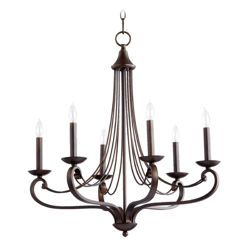 Quorum Lighting Quorum Lighting Lariat Oiled Bronze Chandelier 6030-6-86