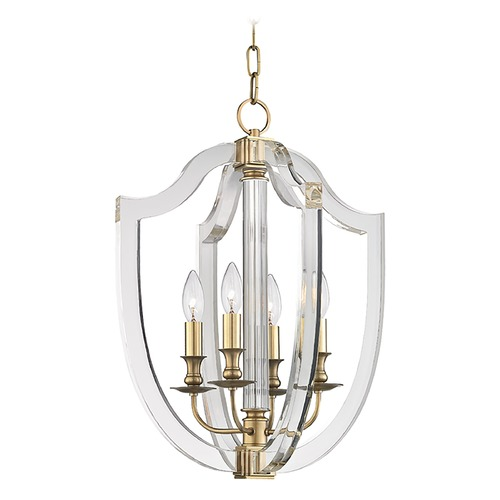 Hudson Valley Lighting Hudson Valley Lighting Arietta Aged Brass Pendant Light 6516-AGB