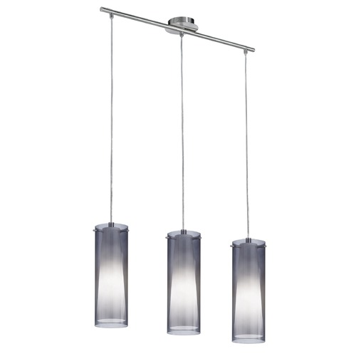Eglo Lighting Eglo Pinto Nero Matte Nickel Multi-Light Pendant with Cylindrical Shade 90305A