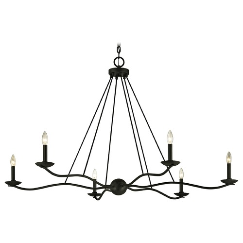 Troy Lighting Troy Lighting Sawyer Forged Iron Chandelier F6306