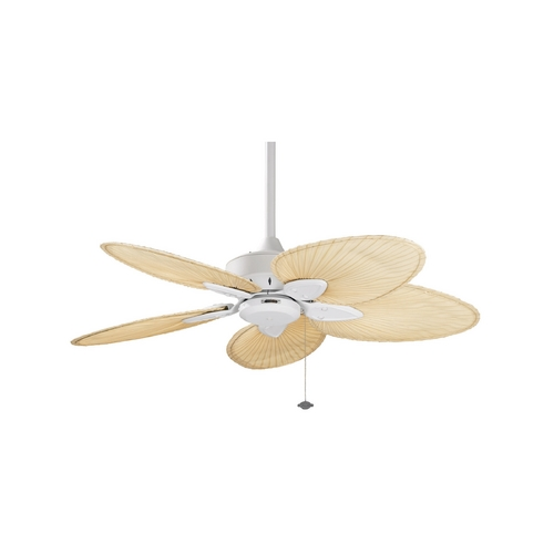 Fanimation Fans Ceiling Fan Without Light in Matte White Finish FP7500MW