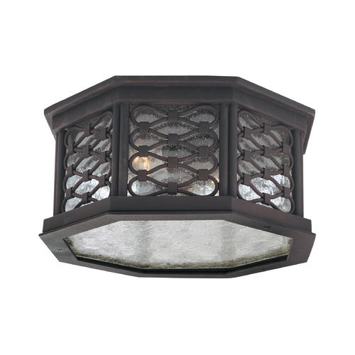 Troy Lighting Close To Ceiling Light with Clear Glass in Old Iron Finish CF2370OI