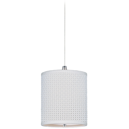ET2 Lighting Modern Low Voltage Mini-Pendant Light with White Shade E95491-100SN