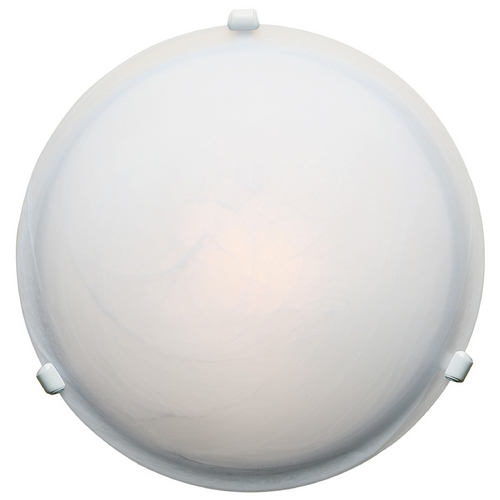 Access Lighting Modern Flushmount Light with Alabaster Glass in White Finish 50046-WH/ALB