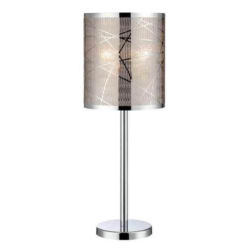 Lite Source Lighting Lite Source Lighting Lorenza Chrome Table Lamp with Cylindrical Shade LS-22107