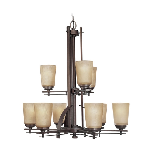 Progress Lighting Progress Chandelier with Beige / Cream Glass in Heirloom Finish P4214-88