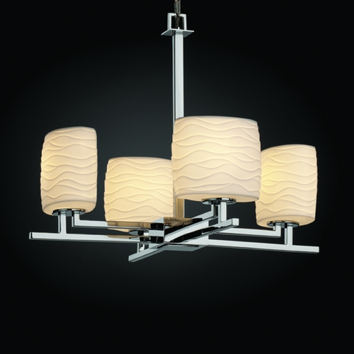 Justice Design Group Justice Design Group Limoges Collection Chandelier POR-8700-30-WAVE-CROM