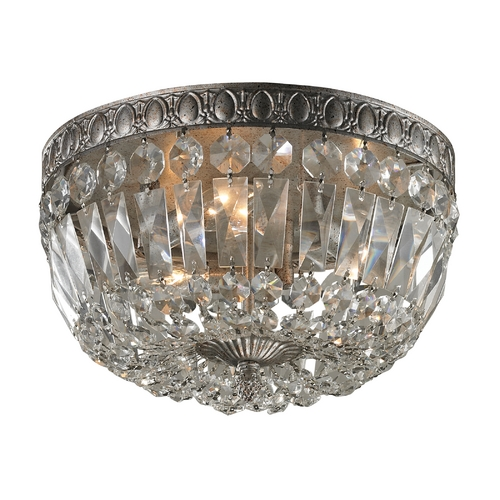 Elk Lighting Crystal Flushmount Light in Sunset Silver Finish 11480/3