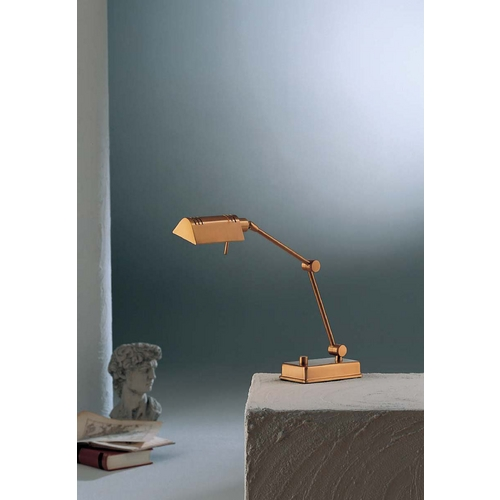 Holtkoetter Lighting Holtkoetter Modern Swing Arm Lamp in Antique Brass Finish 8346 AB
