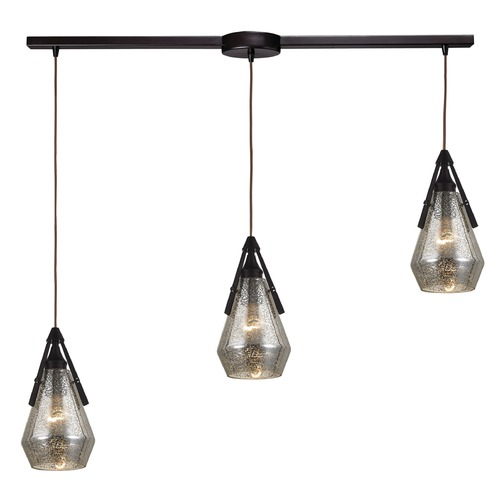 Elk Lighting Mercury Glass Multi-Light Pendant Oil Rubbed Bronze Elk Lighting 46172/3L
