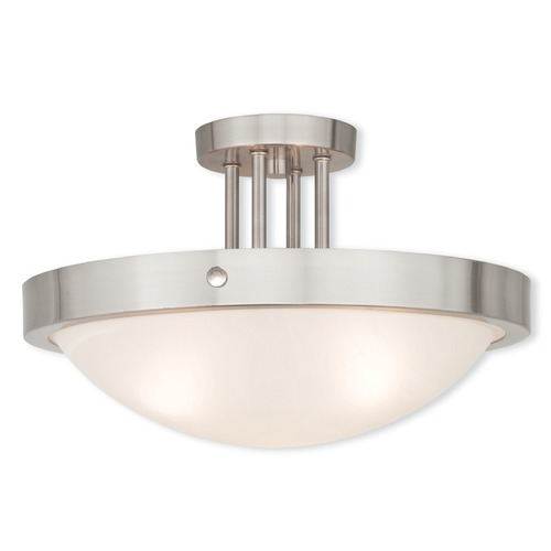 Livex Lighting Livex Lighting New Brighton Brushed Nickel Semi-Flushmount Light 73956-91