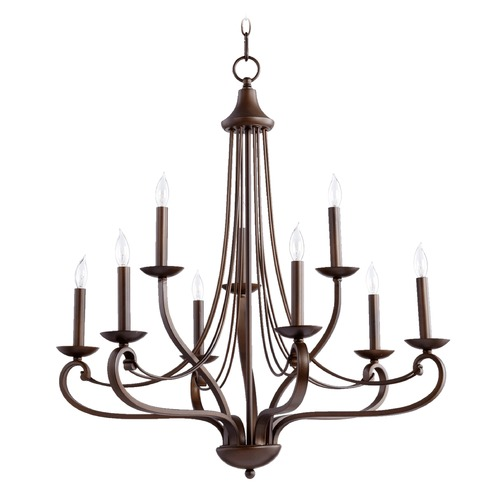 Quorum Lighting Quorum Lighting Lariat Oiled Bronze Chandelier 6030-9-86