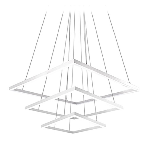 "Kuzco Lighting 43"" x 43"" Square Modern LED Pendant CH62243-WH"