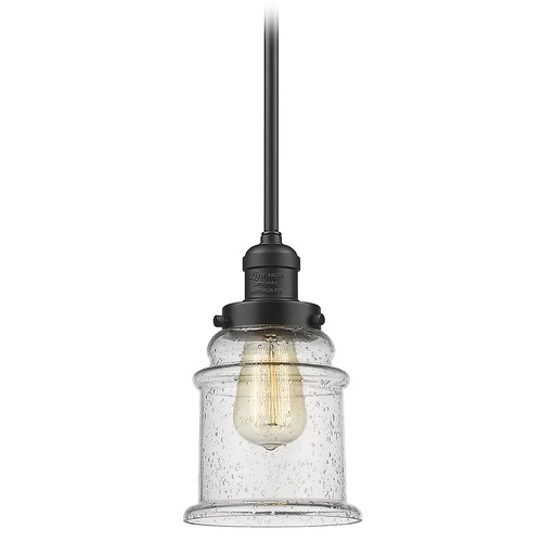 Innovations Lighting Innovations Lighting Canton Oil Rubbed Bronze Mini-Pendant Light with Bell Shade 201S-OB-G184