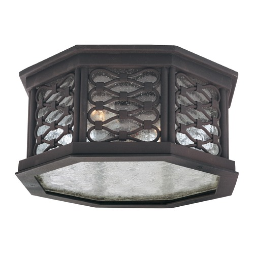 Troy Lighting Close To Ceiling Light with Clear Glass in Old Iron Finish C2370OI