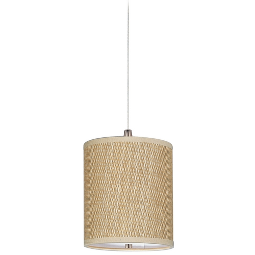 ET2 Lighting Modern Low Voltage Mini-Pendant Light with Brown Shade E95491-101SN