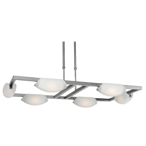 Access Lighting Access Lighting Nido Matte Chrome Pendant Light with Bowl / Dome Shade 63962-MC/FST